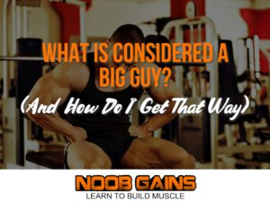 What is considered a big guy image
