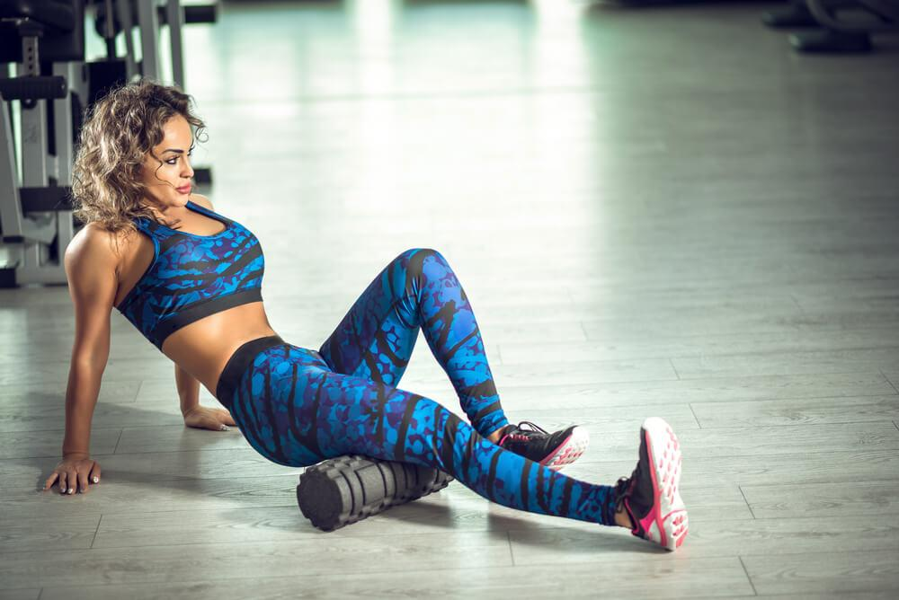 Avoid muscle tightness and injury by using rollers and massage balls.