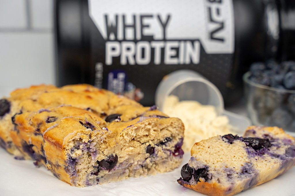 Blueberry Protein Bread