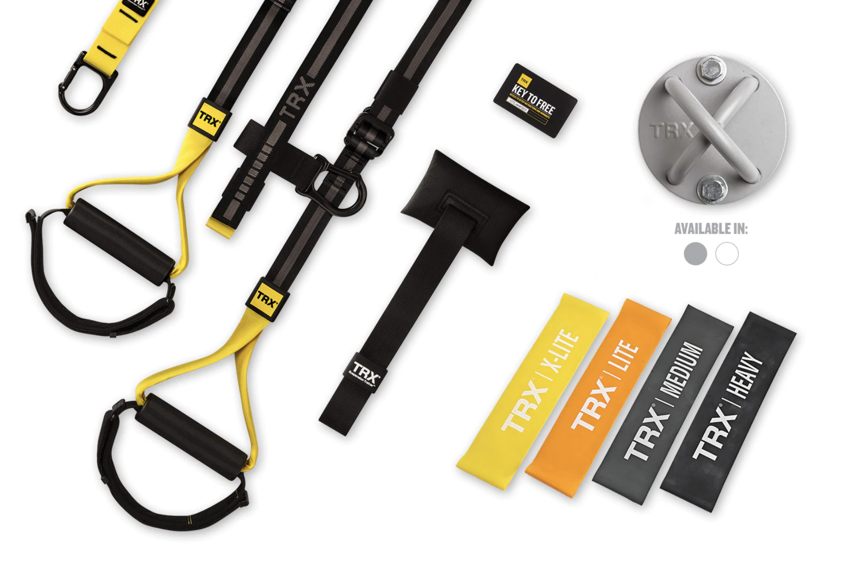 TRX Home2, door anchor, wall mount, and exercise bands