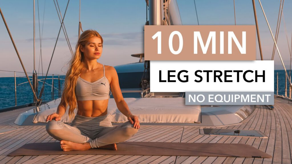 10 MIN LEG STRETCH - hamstrings, butt, thighs - for sore muscles and flexibility I Pamela Reif