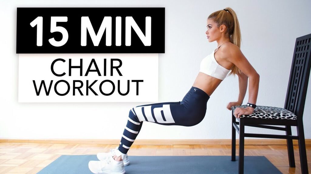 15 MIN CHAIR WORKOUT - Extreme Full Body Training / Nothing for Beginners | Pamela Reif