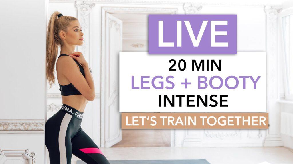 20 MIN LEGS + BOOTY - Let's train together / No Equipment I Pamela Reif
