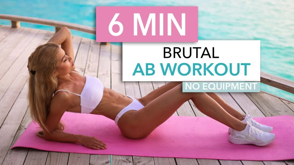 6 MIN BRUTAL AB WORKOUT - intense sixpack workout, short and sweet / No Equipment I Pamela Reif