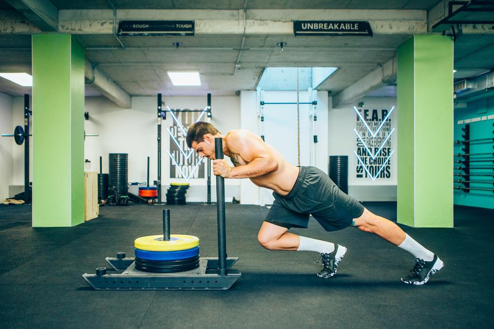 Incorporate sled training to build an aesthetically appealing body