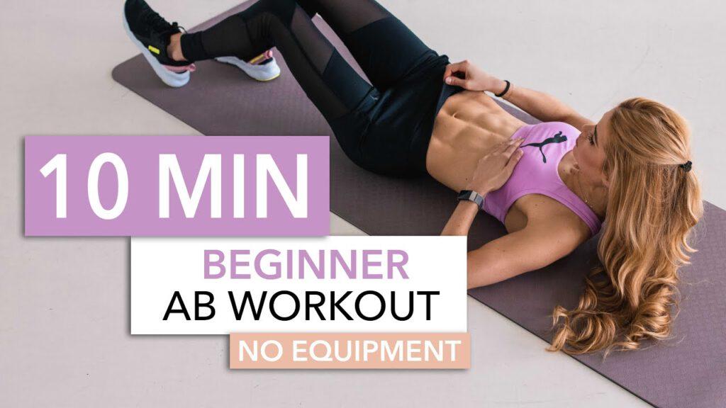 10 MIN BEGINNER AB WORKOUT // No Equipment | Pamela Reif