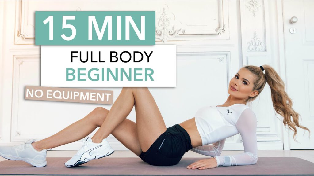 15 MIN FULL BODY WORKOUT / Beginner Friendly - Let's Train Together / No Equipment I Pamela Reif