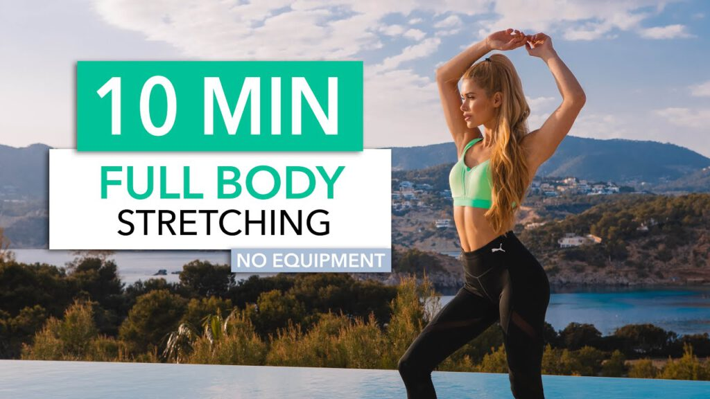 10 MIN FULL BODY STRETCHING - to end your workout, for tight muscles & flexibility I Pamela Reif