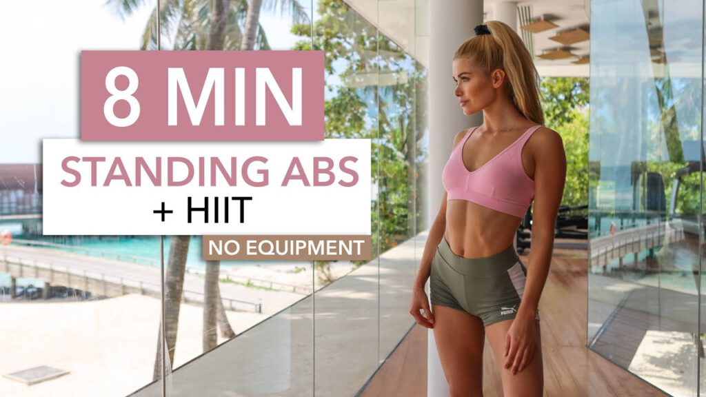 8 MIN STANDING ABS + HIIT - short and not sweet, burns lots of calories / No Equipment I Pamela Reif