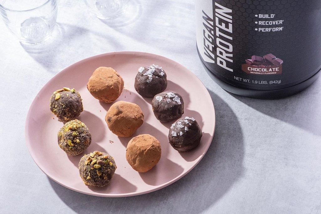 Vegan Chocolate Protein Truffles