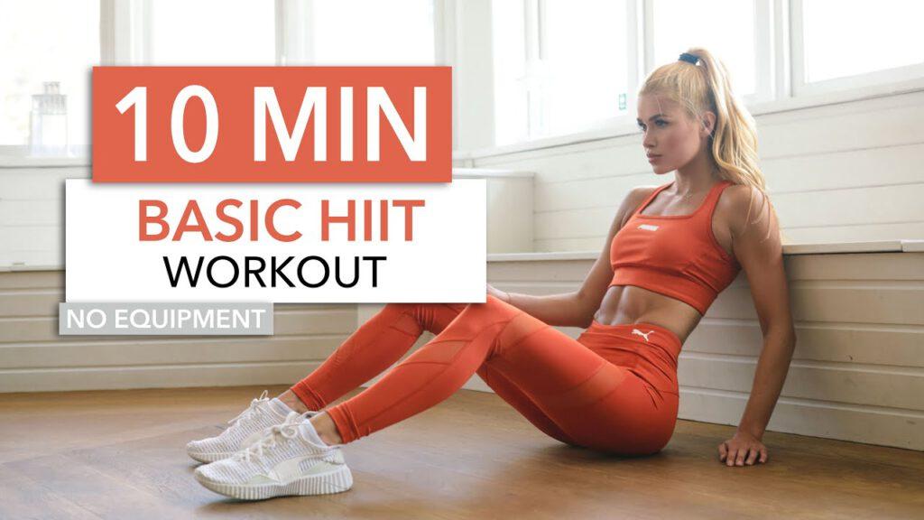 10 MIN BASIC HIIT - killer High Intensity routine, standard exercises I Pamela Reif