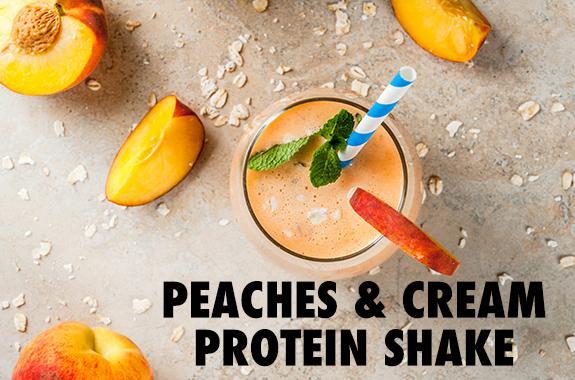 Peaches & Cream Protein Shake Recipe